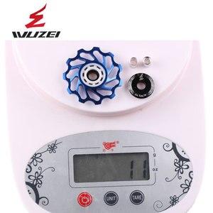 Image 5 - WUZEI polea de cerámica para bicicleta de carretera rodamiento de rueda de cerámica Jockey, aleación trasera de aluminio 7005, desviador 11T 12T 13T, 2 uds.