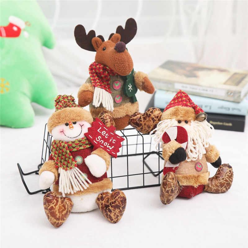 Dekorasi Natal Lucu Boneka Gantung Pohon Natal Santa Claus Sock Hadiah Dekorasi Pesta Tahun Baru 2020 Anak Hadiah Pohon Natal ornamen