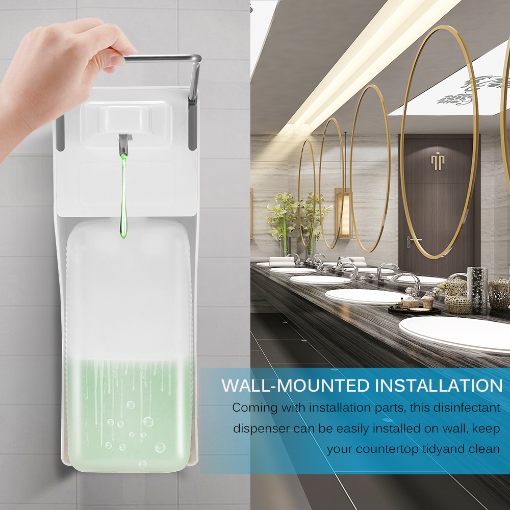 HOT Elbow Press Soap Pump Wall-mounted Sanitizer Dispenser  Multipurpose Manual Soap Dispenser For Home Hospital Hotel