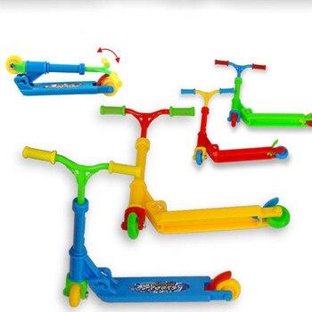 Mini patinete de dos ruedas para niños, juguetes educativos, moto de dedo, diapasón, monopatín, juguetes para niños