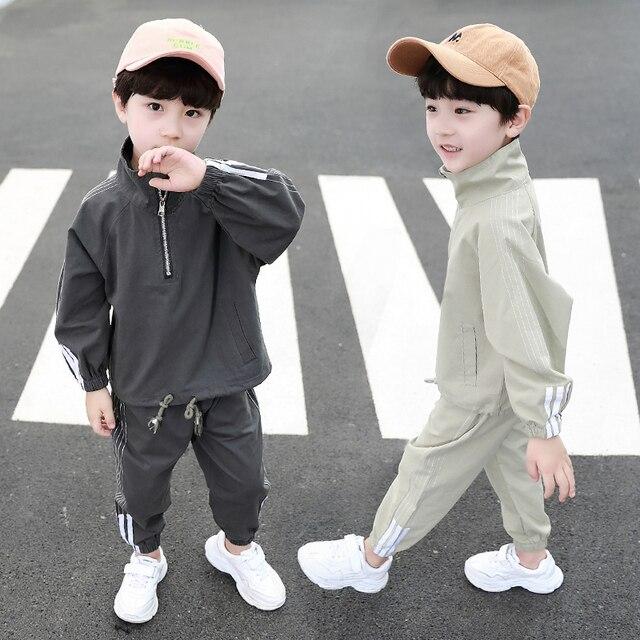 Pakian Set Anak Laki Laki Lengan dan Celana Panjang  1