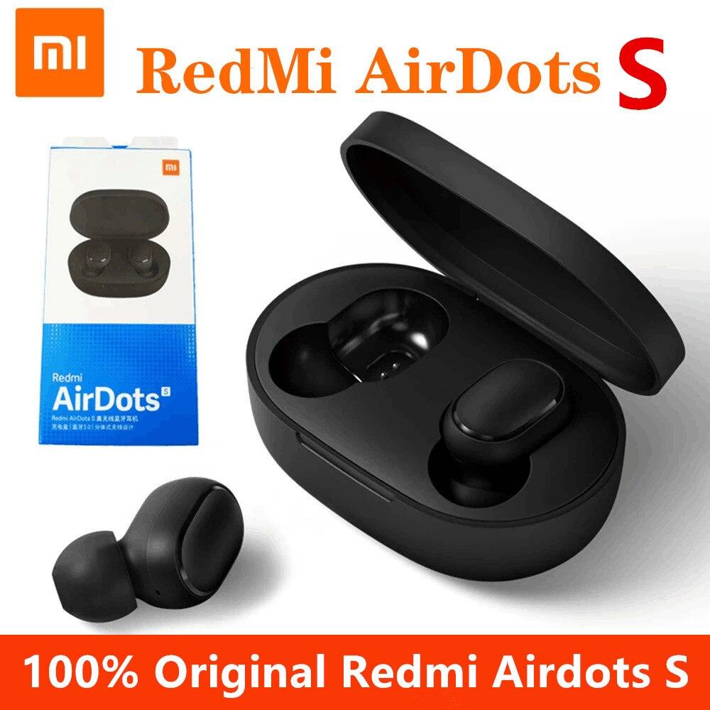 Xiaomi redmi airdots s tws fones de ouvido bluetooth sem fio fone de ouvido controle ia gaming headset com microfone redução ruído|Fones de ouvido|   -