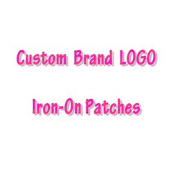Heat Transfers Custom Brand LOGO Iron On Transfers PVC Patch For Clothing Thermal Transfer Heat Vinyl Ironing Stickers For Bag