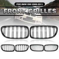 Pair Glossy/Matte Black M Color Double Line Sport Car Front Kidney Grilles For BMW 3 Serie For BMW E90 2009 2012/ E91 2009 2013|  -