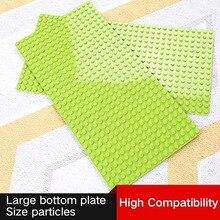 Large Size 51x25.5cm Baseplate Big Base Plate 512 Dots Exlarge Bricks Wall DIY Toys Compatible Duplo For Child Kids
