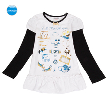 JUXINSU Cotton Toddler Printing Girls Long Sleeve Dresses for Kids Baby Autumn Winter Casual Dress for Girl 3-8 Years glowwormkids autumn winter baby girl suit plaid printing long sleeve coat dress without sleeve hs101