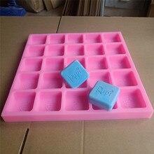 25 полостей квадратный Настроить Силиконовые формы для мыла воск расплава силиконовые формы на заказ Холодный процесс, мыло изготовление