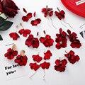 2019 neue Süße Übertreiben Red Big Acryl Blütenblatt Quaste Erklärung Tropfen Ohrringe Für Frauen Mädchen Hochzeit Ohr Zubehör Brincos