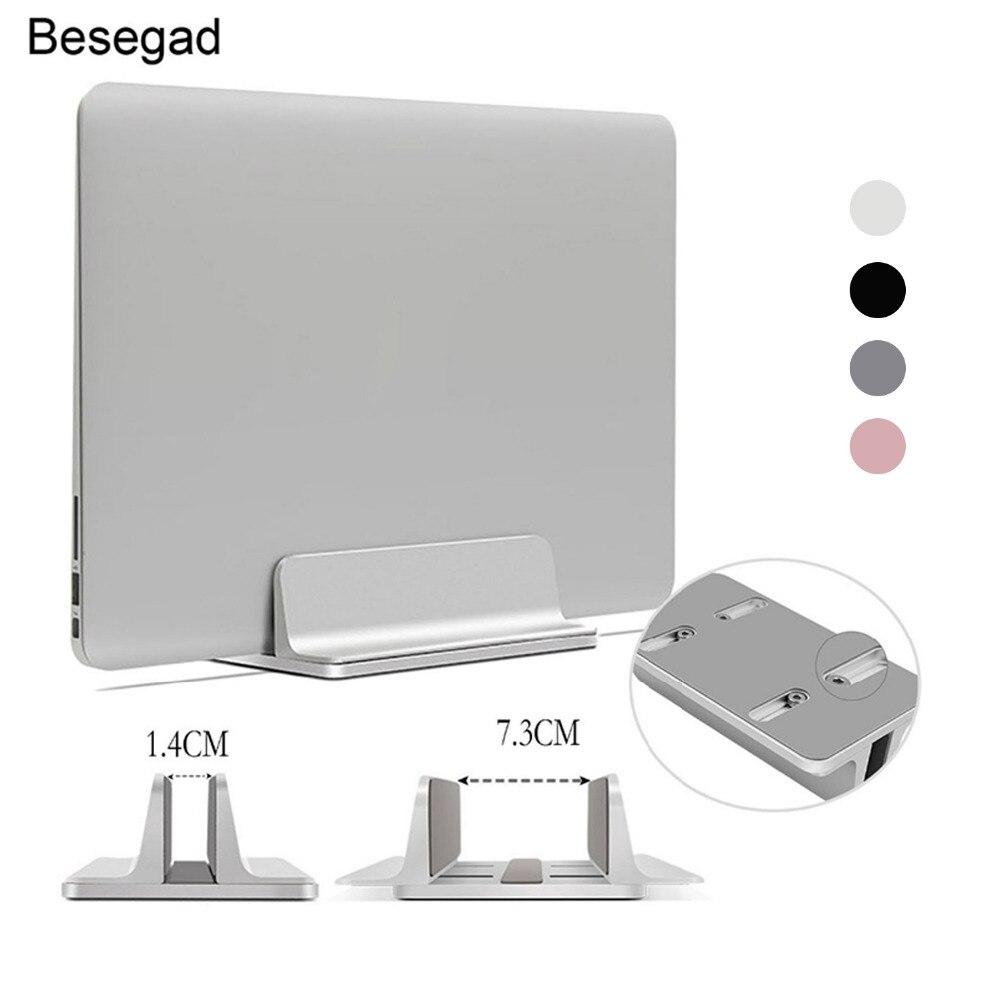 Besegad soporte Vertical ajustable para portátil soporte de aluminio portátil para portátil soporte Base soporte para MacBook Pro Air Accessory2020