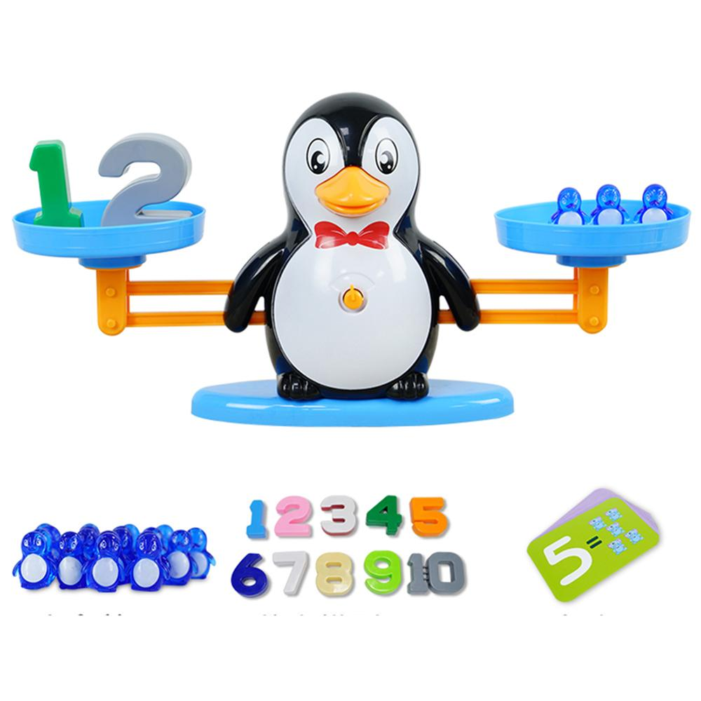Math Match Game Board Toys Elephant Penguin Match Balancing Scale Number Balance Board Game Kids Baby Preschool Math Toys