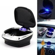 1PC Auto Car Truck Portable LED Cigarette Smoke Car Ashtray  LED Light Smokeless Ashtray Cigarette Holder Anti-Slip Rubber