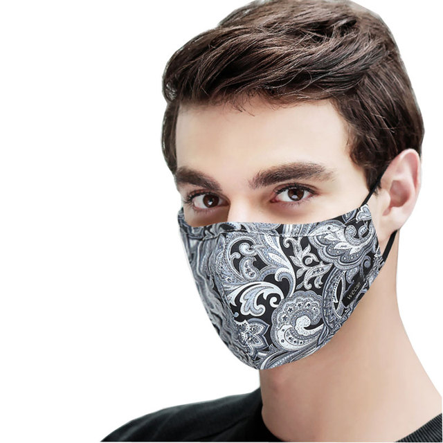Kpop Cotton Black Mask mouth face Mask Anti PM2.5 dust Mouth Mask with 6pcs Activated Carbon Filter korean Mask Fabric Face Mask 2