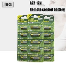 Pcs 12V 27A bateria Alcalina de 15 G27A MN27 MS27 GP27A A27 L828 V27GA ALK27A A27BP K27A VR27 R27A Para Campainha de alarme de controle remoto