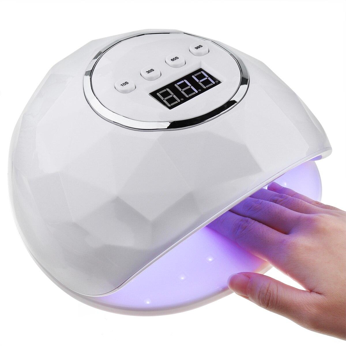 86 Вт УФ светодиодный светильник для дизайна ногтей сушилка 39 шт. светодиодный Гель-лак быстрая лампа для сушки ногтей умный автоматический ...