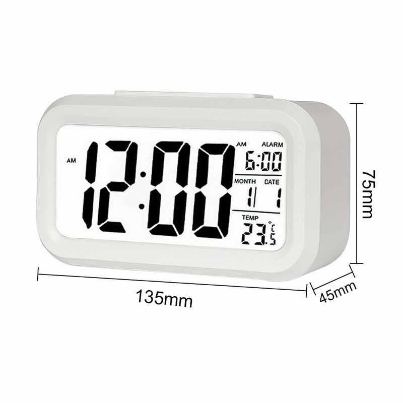 שעון מעורר גדול תצוגה עם לוח שנה עבור בית משרד שולחן שעון נודניק אלקטרוני ילדים שעון LED שולחן העבודה דיגיטלי שעונים