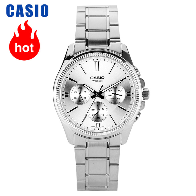 Casio Horloge Pointer Serie Zakelijke Entertainment Drie Tijd Quartz Mannelijke Horloges MTP 1375D 7A