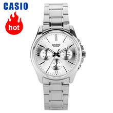 Casio นาฬิกาธุรกิจบันเทิงสามชายนาฬิกาควอตซ์ MTP 1375D 7A