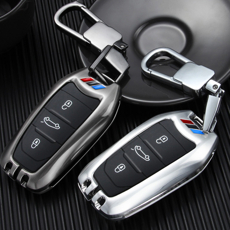 zinc alloy car key cover fob case for Peugeot 3008 208 308 508 408 2008 307 4008 Citroen C4 DS3 DS5 DS6 C4L CACTUS C5 Picasso title=