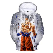 New Anime Dragon Ball Goku 3D Print Hoodie Fashion Mens Personality Trend Casual Sports
