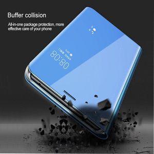 Image 2 - Mirror Smart Case For Xiaomi Mi Max 3 CC9E Case Clear View PU Leather Kickstand Flip Cover For Xiaomi MI A3 LITE Max 3 Redmi 10X