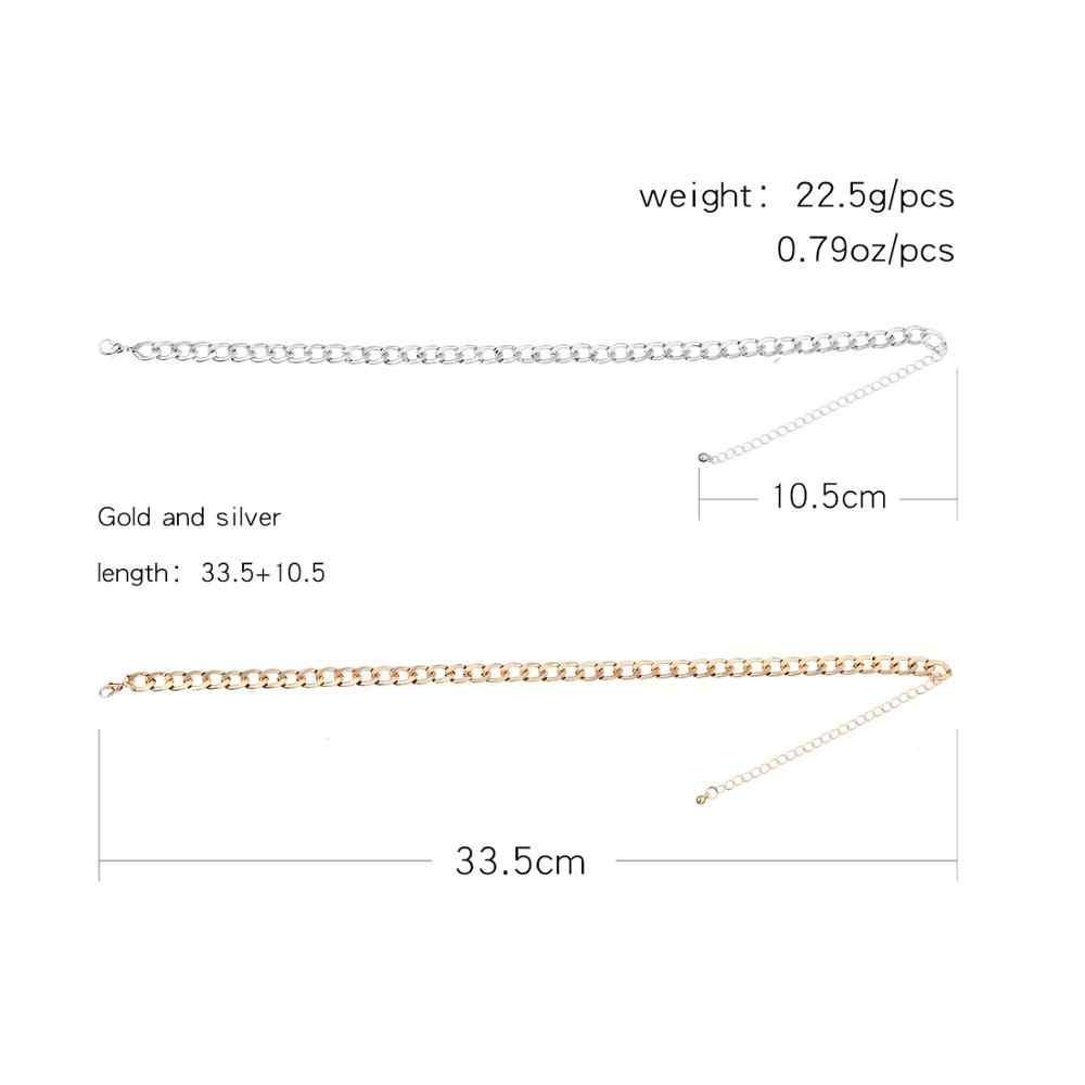 Moda Link zinciri gerdanlık kolye kadınlar için Charm kolye Collares takı XL066