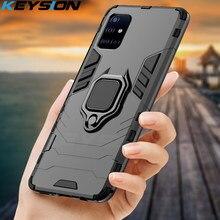 KEYSION odporny na wstrząsy etui do Samsung A51 A71 A31 A52 A72 telefon pokrywa dla Galaxy S20 Ultra S10 Lite uwaga 10 Plus A50 A70 A12 A21S
