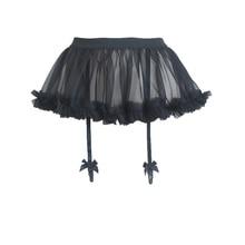 Suspenders Fairy Kei Ball-Gown Bubble-Skirt Black Women's Cute Garters Seersucker Tutu-Color