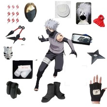 Anime Naruto Cosplay Hatake Kakashi cosplay déguisement vêtements halloween masque sur mesure taille pour adultes femmes hommes perruque