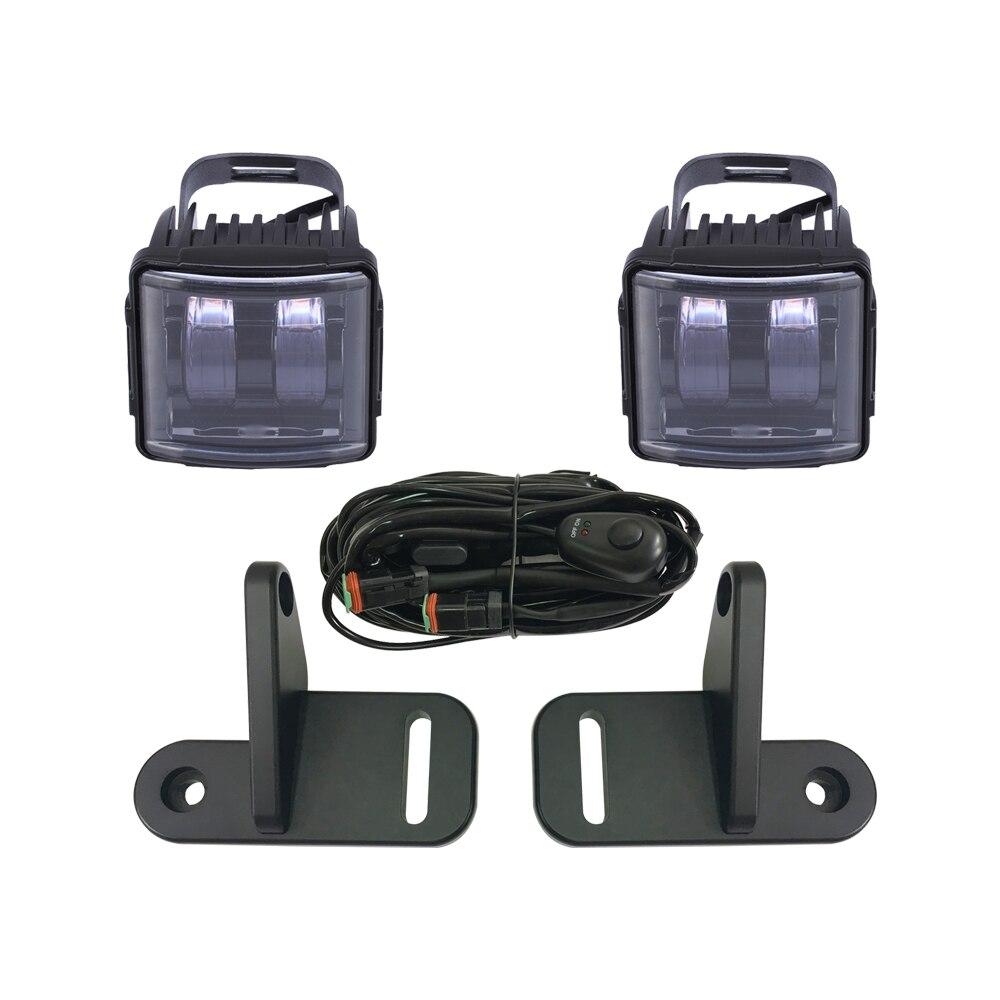 2 шт. столб светодиодный Pod рабочий свет комплект с монтажным кронштейном для 2018 + Jeep Wrangler JL