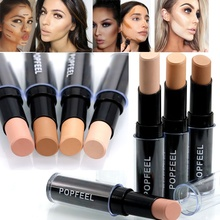 Concealer Foundation Makeup Full Cover Face Corrector Hide Blemish Dark Eye Circle Contour Stick Proofreader Make Up Concealer face full cover contour concealer stick foundation 3 colors moisturizer dark eye circle hide blemish bronzer facial base makeup