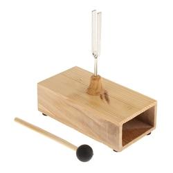 Диагностическая вилка 440 Гц + молотковый шарик + деревянная резонансная коробка для акустического инструмента