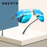 RBEWTP, новинка 2019, оправа из сплава, Классические мужские солнцезащитные очки для вождения, поляризационное покрытие, зеркальная оправа, очки,...