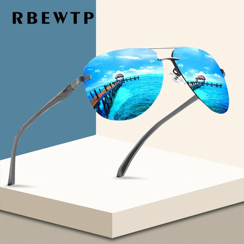 RBEWTP Neue 2019 Legierung Rahmen Klassische Fahrer Männer Sonnenbrille Polarisierte Beschichtung Spiegel Rahmen Brillen luftfahrt Sonne Gläser Für Frauen