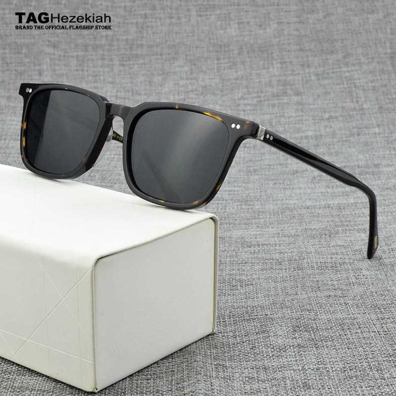 luxury Brand square polarized sunglasses Men 2020 Vintage sunglasses for women Acetate Retro Transparent sun glasses men OV5316U