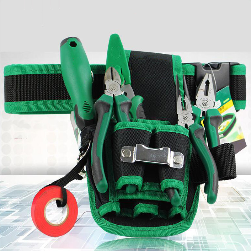 Waist-Mounted Tool Bag Multi-Function Tool Pocket Hardware Tool Storage Bag Multi-Jack Repair Kit Adjustable Belt Storage Bag