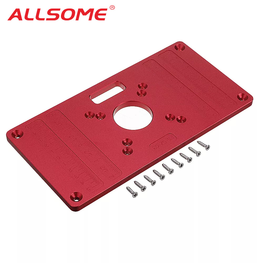 ALLSOME Woodworking 235x120mm Aluminum Alloy Router Table Insert Plate Mounting Base Plate For MAKITA RT0700C WORX HT2802