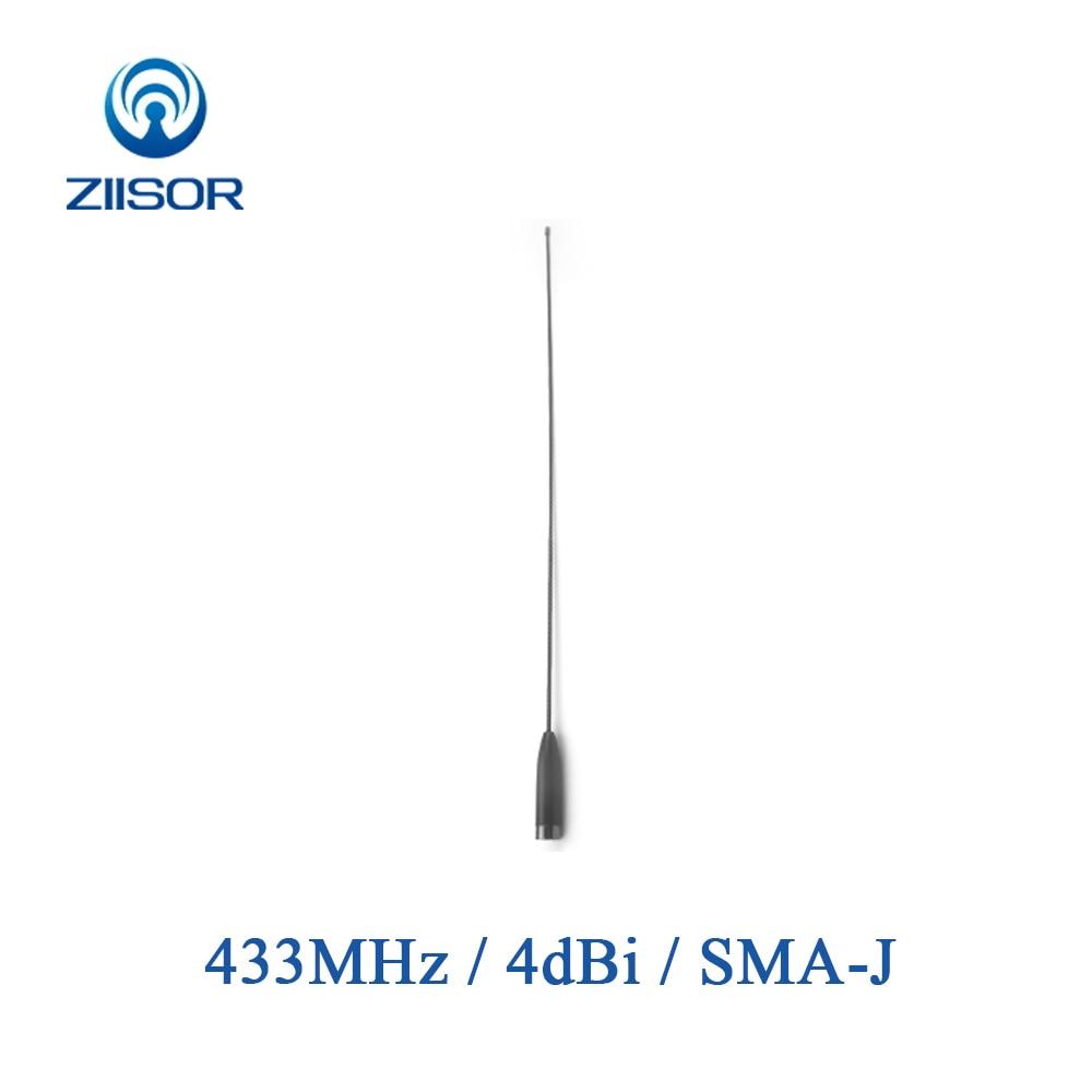 Banda 433MHz UHF Walkie Talkie Antena de Alto Ganho Omni SMA Masculino Módulo de Transmissão de Dados Sem Fio Controle Remoto DTU Z52-B433SJ