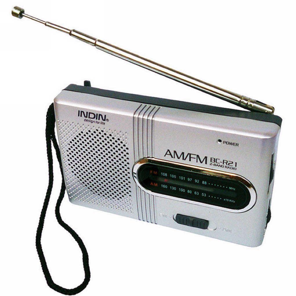 BC-R21 Mini Radio Tragbare AM FM Teleskop Antenne Tasche Radio Welt Empfänger Lautsprecher Batterie Powered