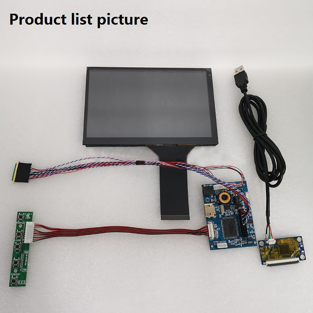 7 Inch Touch LCD Screen IPS Monitor HDMI 16:<font><b>10</b></font> Car Display Module DIY Kits for Raspberry Pi Android <font><b>Windows</b></font> 7 8 <font><b>10</b></font> 1280*800 image