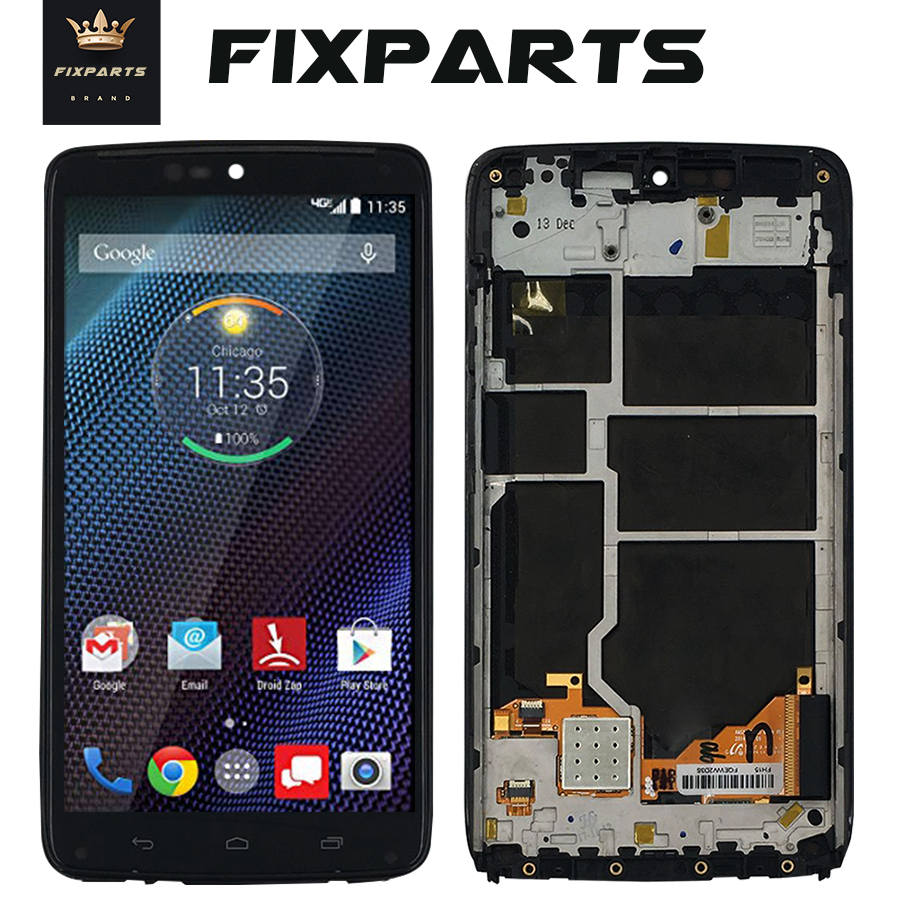 Original LCD For Motorola Moto Droid Turbo LCD XT1254 Display Touch Screen Digitizer Assembly Replace For Moto Maxx LCD XT1225