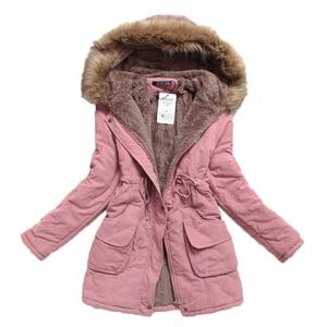 Image 3 - Chaqueta de invierno para mujer, Abrigo acolchado de algodón, largo y grueso de talla grande 4XL, prendas de vestir, Abrigo acolchado