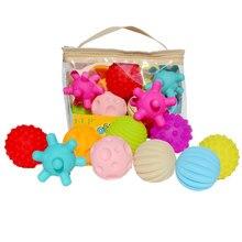 Brinquedos da bola do estresse do toque da mão para bebês tátil massagem bola de borracha macia chocalhos do bebê textured sensorial bolas tátil brinquedos do bebê