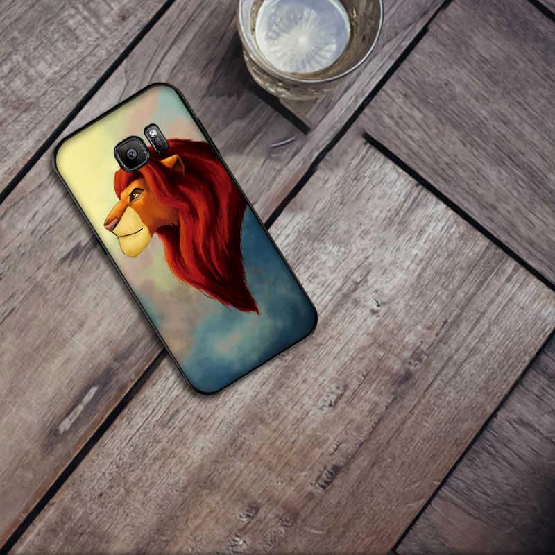 Vua Sư Tử Silicone Mềm Ốp Lưng Điện thoại Samsung Galaxy S8 S9 S10 Plus NOTE 8 9 M10 M20 M30 s6 S7 Edge Coque
