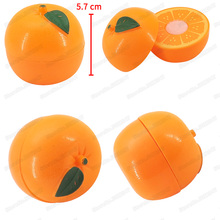 Mini Fruit Tangerine Girl Character Play Game Moc Kitchen Safety Cutting Set Suit Diy Childrens Christmas Gifts Educational Toys