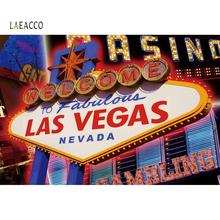 Laeacco Photo Backdrop Welcome To Las Vegas Fabulous Nevada Casnio Entertainments Party Banner Photography Backgrounds Photocall las vegas