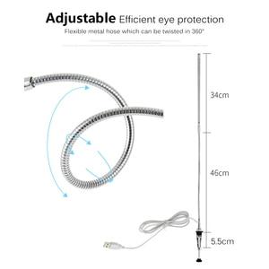 Image 5 - Long Arm Table Lamp 48 LEDs Clip Mounted Office LED Desk Lamp USB Flexible Gooseneck Eye protection Reading Lamps for Work Study