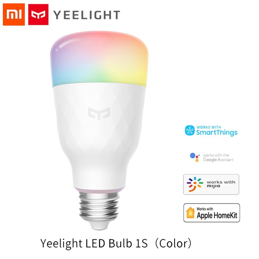 XiaoMi Yeelight 1S Colorful Bulb E27 Smart APP WIFI Remote Control Smart LED Light RGB / Colorful Temperature Romantic Lamp Bulb