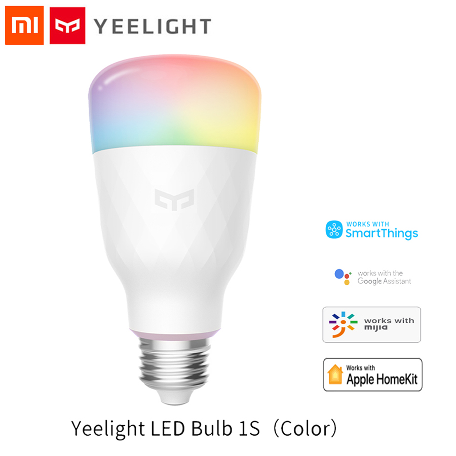 XiaoMi Yeelight 1S Colorful Bulb E27 Smart APP WIFI Remote Control Smart LED Light RGB / Colorful Temperature Romantic Lamp Bulb