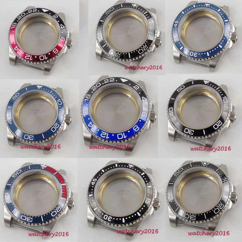 40mm 316L Steel Sapphire Watch Case Fit ETA 2824 2836 Miyota 8215 821A Movement