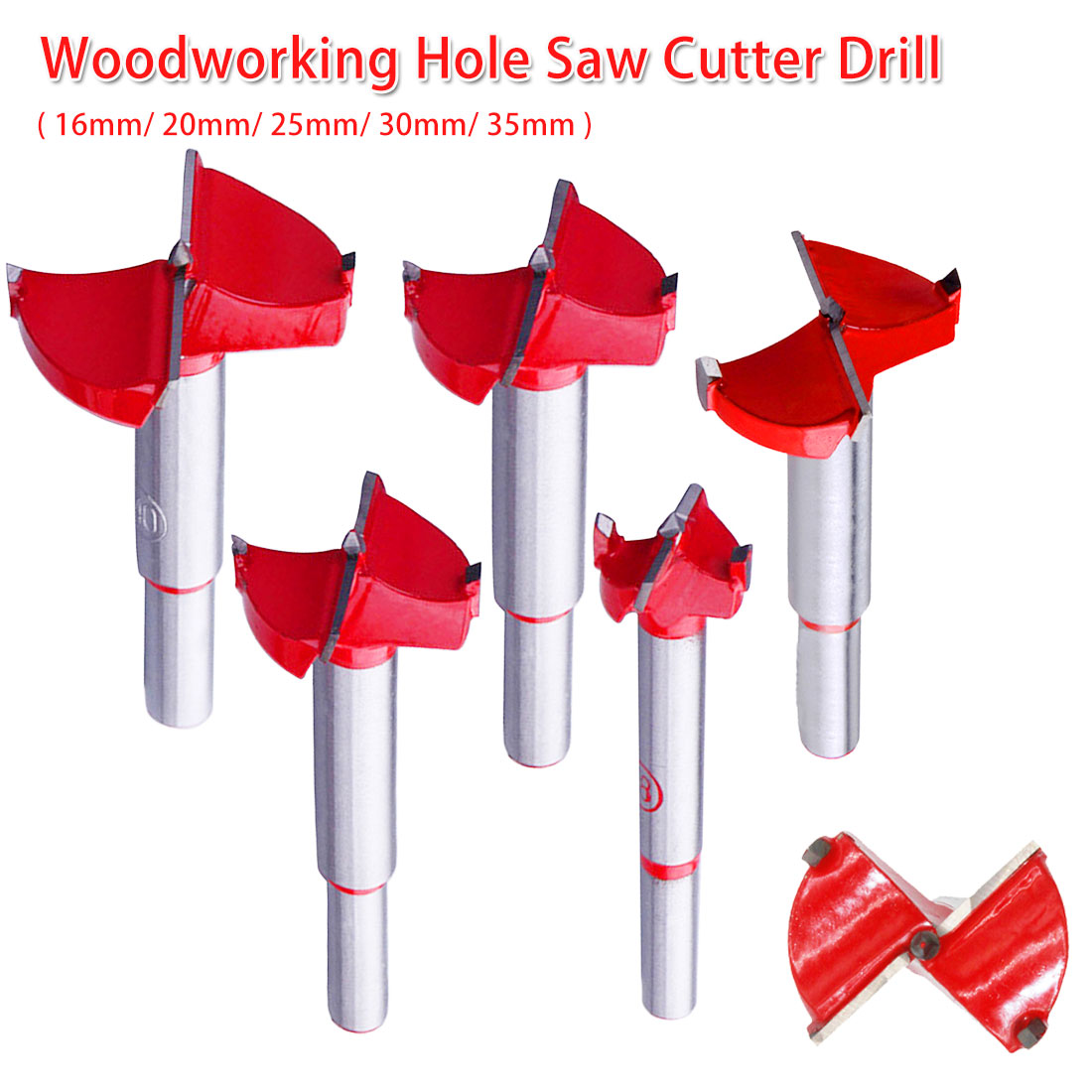16-35mm Professional Forstner Woodworking Hole Saw Cutter Alloy Hole Opener Drill Bit Flat Wing Drill For Wood Panel/ Cabinet